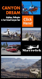 Canyon Dream - Airplane, Helicopter and on Foot Grand Canyon Tour - Click Here