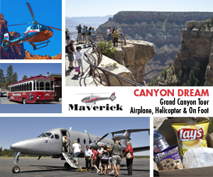 Canyon Dream - Grand Canyon Tour - Airplane, Helicopter and on Foot - Click Here