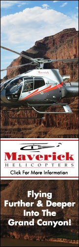 Fly deeper into the Grand Canyon with Maverick Helicopters - Click Here