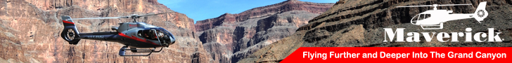 Book a sightseeing tour to Grand Canyon with Maverick Helicopter - Click Here