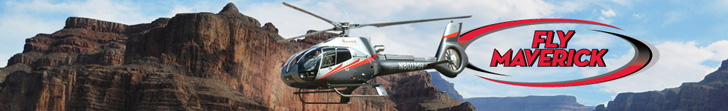 Grand Canyon sightseeing flights with Maverick Helicopter - Click Here