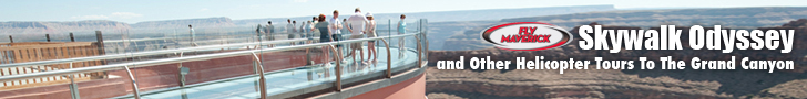 Skywalk and Grand Canyon Ride with Maverick Helicopters - Click Here