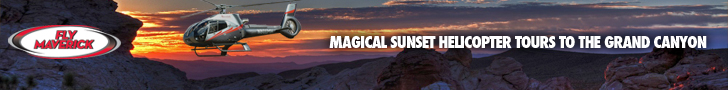 Grand Canyon Sunset Flights with Maverick Helicopters - Click Her