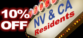 10% Off for NV and CA Residents