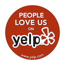 People Love Us On Yelp! Award