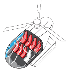 Seating in one of Maverick's Eco-Star Helicopters is more spacious and comfortable than the A-Star Helicopters