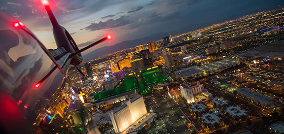 A helicopter ride in Las Vegas