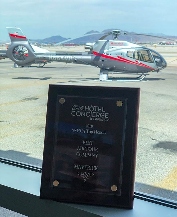 Southern Nevada Hotel Concierge Association Snhca Names Maverick Helicopters The Best Air Tour Company For The 9th Consecutive Year