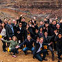 A happy gathering inside the Grand Canyon.