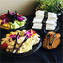 Enjoy delicious hors d'oeuvres and beverages for your group event.