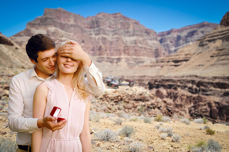 She'll never forget your marriage proposal in the Grand Canyon.