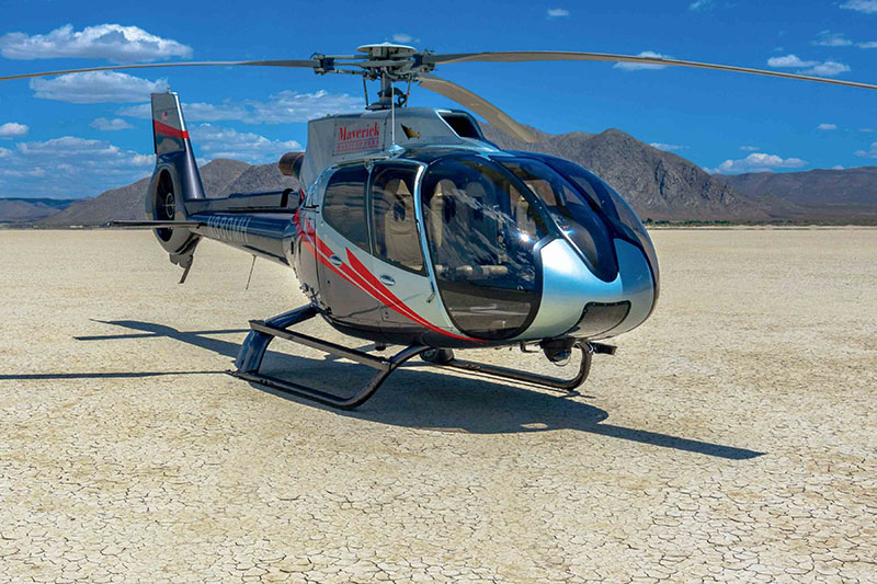 Helicopter to Burning Man