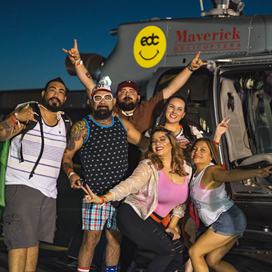 Electric Daisy Carnival Helicopter Shuttle Services