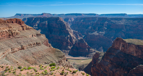 Experience landings at the top and bottom of Grand Canyon West