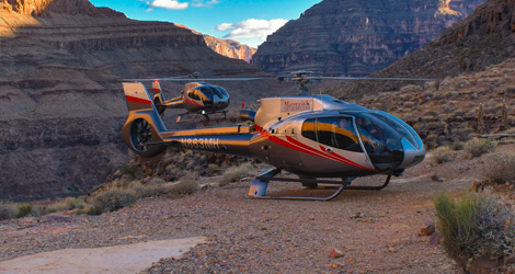 Descend to a private landing are deep within the Grand Canyon