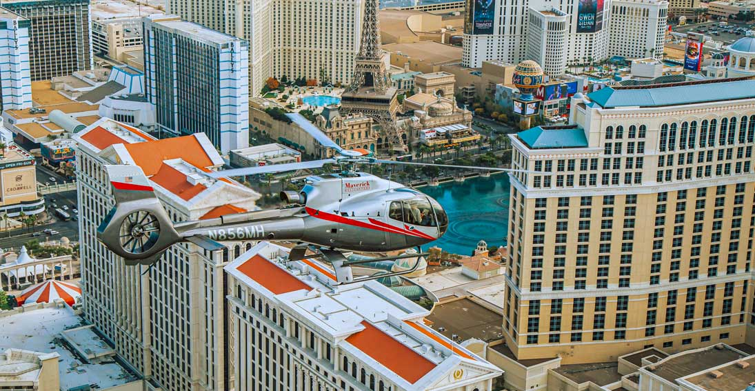 Enjoy the views of the Las Vegas Strip with a helicopter flight