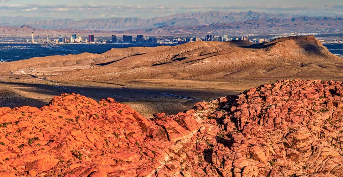 Capture amazing views of Red Rock Canyon and Las Vegas