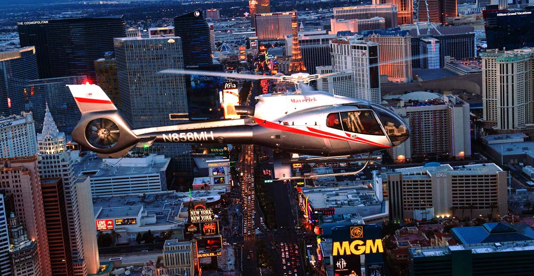 Experience a Las Vegas helicopter flight
