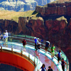 Step on to the Skywalk, the glass bridge above the Grand Canyon.