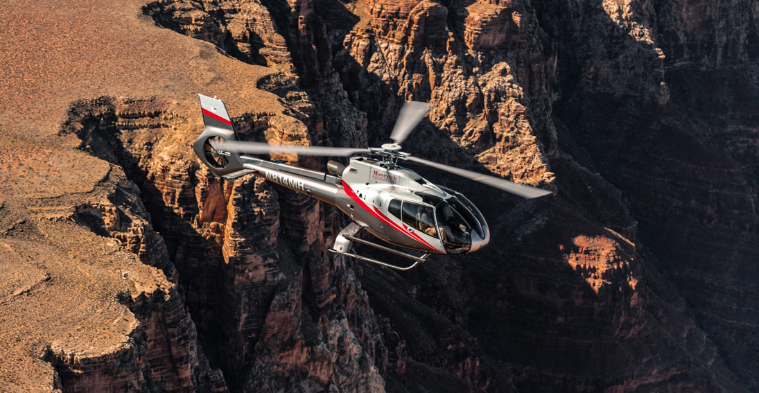 Experience fabulous bird's-eye views of the Grand Canyon