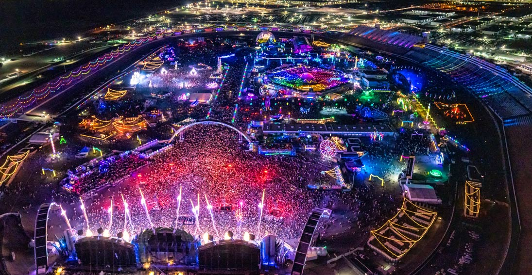 Electric Daisy Carnival helicopter shuttle