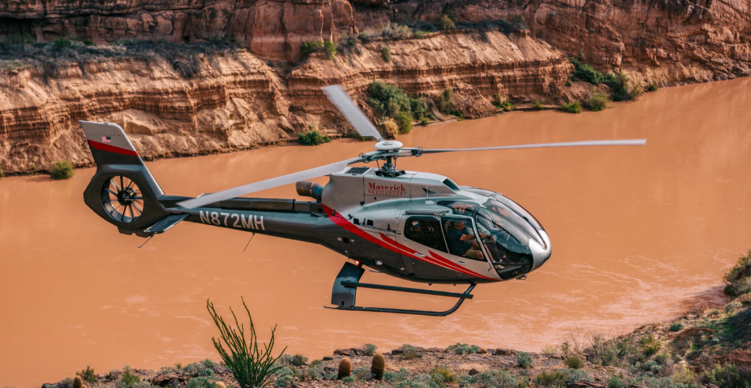 Maverick Helicopter tour departing from Grand Canyon West