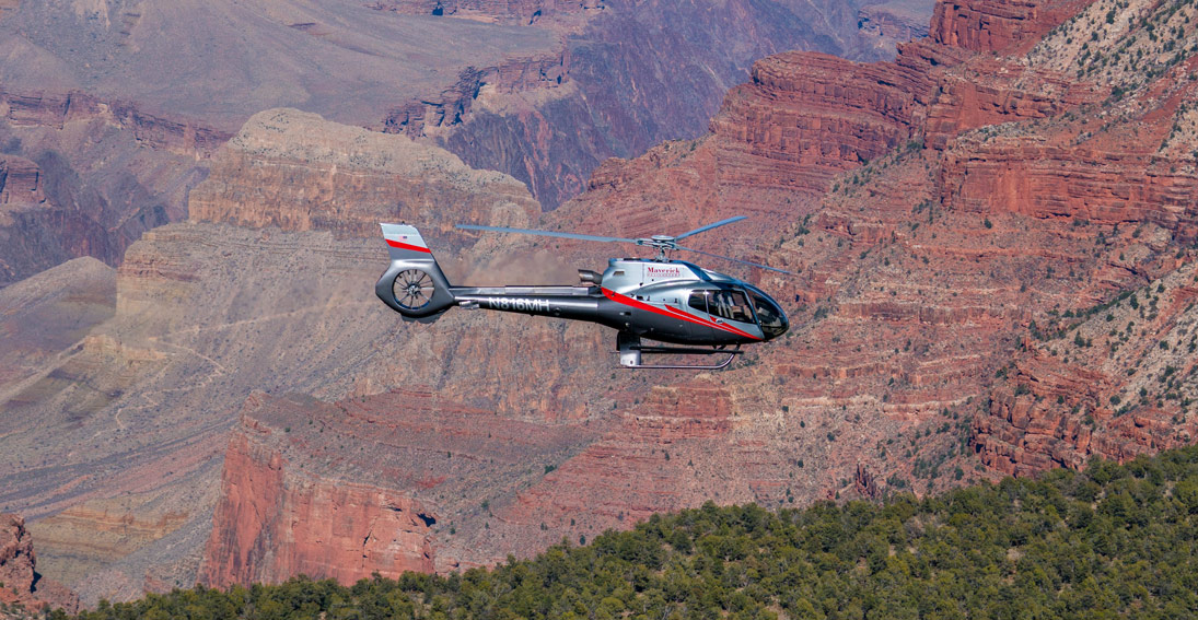 A helicopter tour of the Grand Canyon with Maverick Helicopters