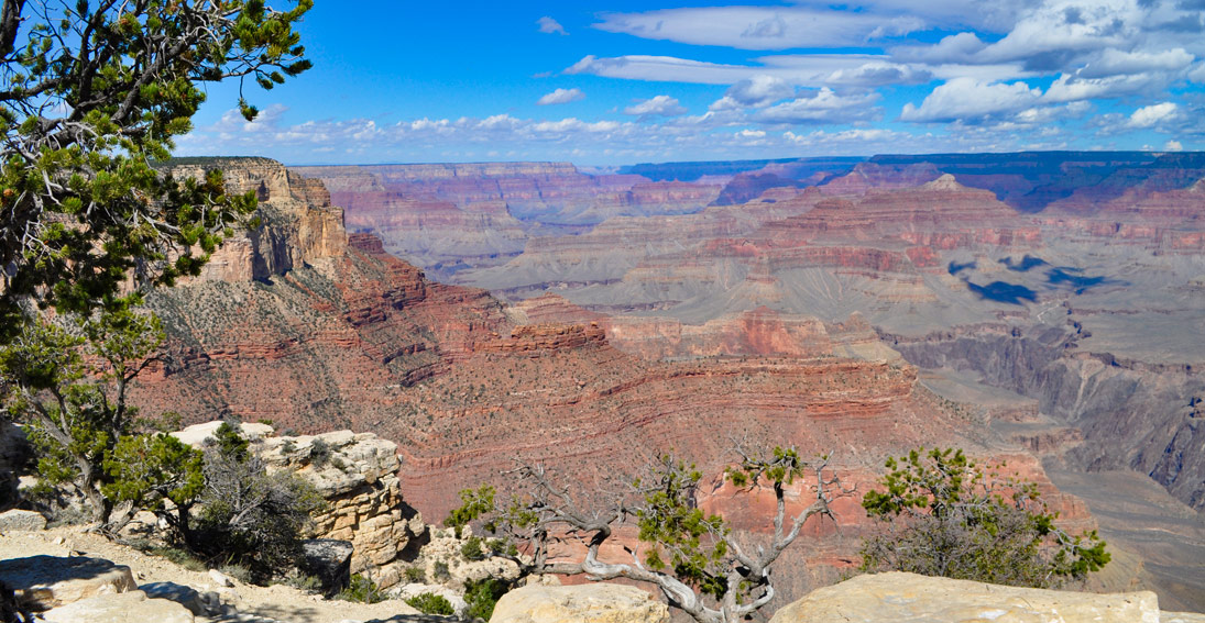 Enjoy the awe-inspiring vistas, panoramic overlooks and trails of the Grand Canyon on your ground tour