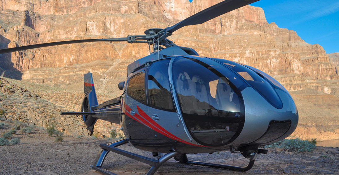 Private landing 3,500 below the rim of the Grand Canyon