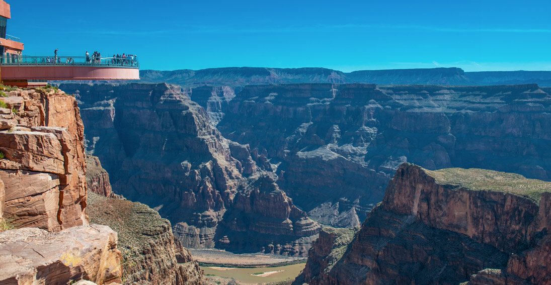 Grand Canyon West has spectacular views and the Skywalk