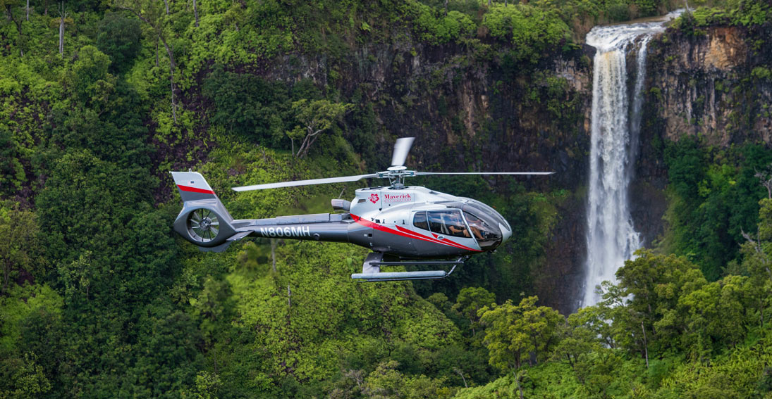 Discover the lush terrain of Na Pali-Kona Forest Reserve on a Kauai helicopter tour