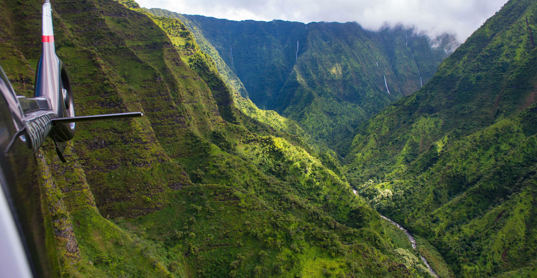 Capture the beauty of Kauai on a helicopter tour with Maverick