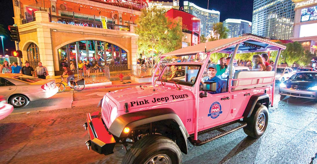Driving tour of Las Vegas with Pink Jeep