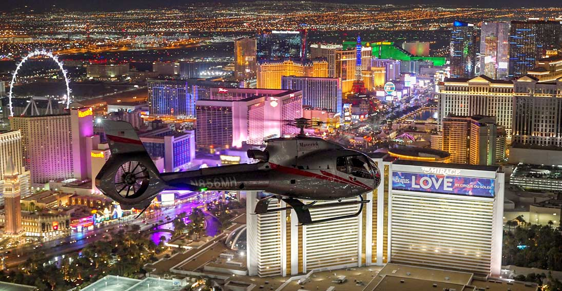 Take flight over Vegas with Maverick Helicopters