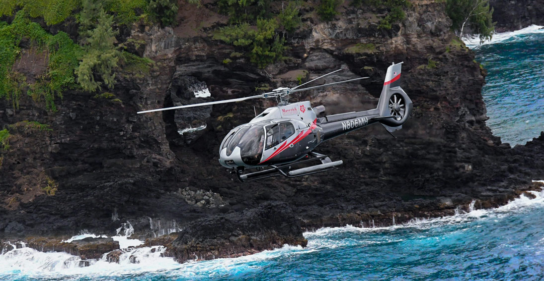 Experience a journey of a lifetime on a helicopter over Maui