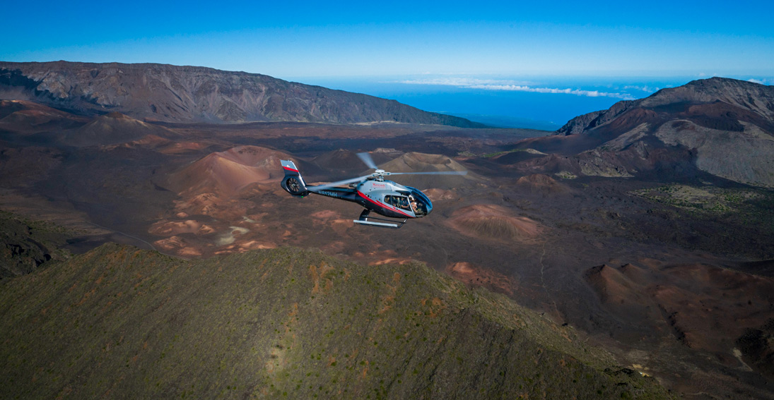 Experience a Maui volcano and Hana Rainforest helicopter tour