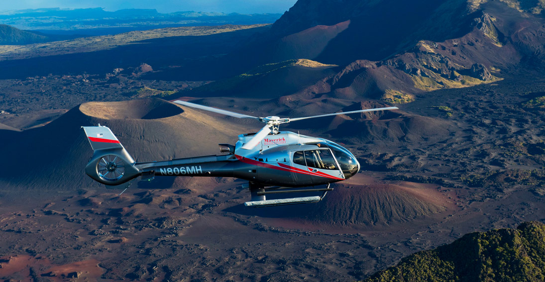 Enjoy views of the dormant volcano on a helicopter tour of Maui