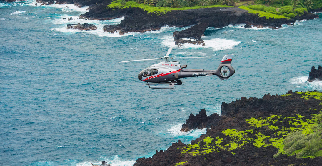 Capture views of jagged cliffs on a Maui helicopter tour