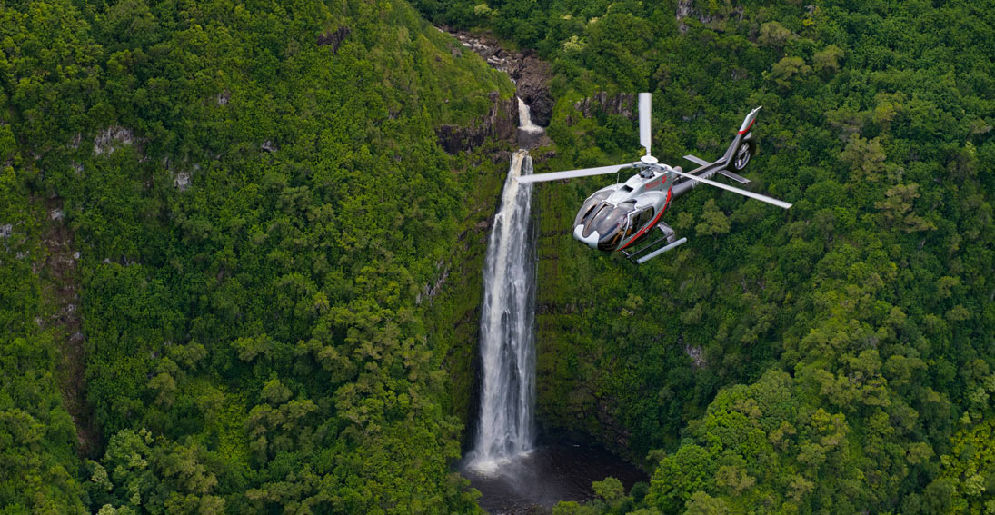 Intimate views of Maui's beautiful waterfalls on this helicopter flight