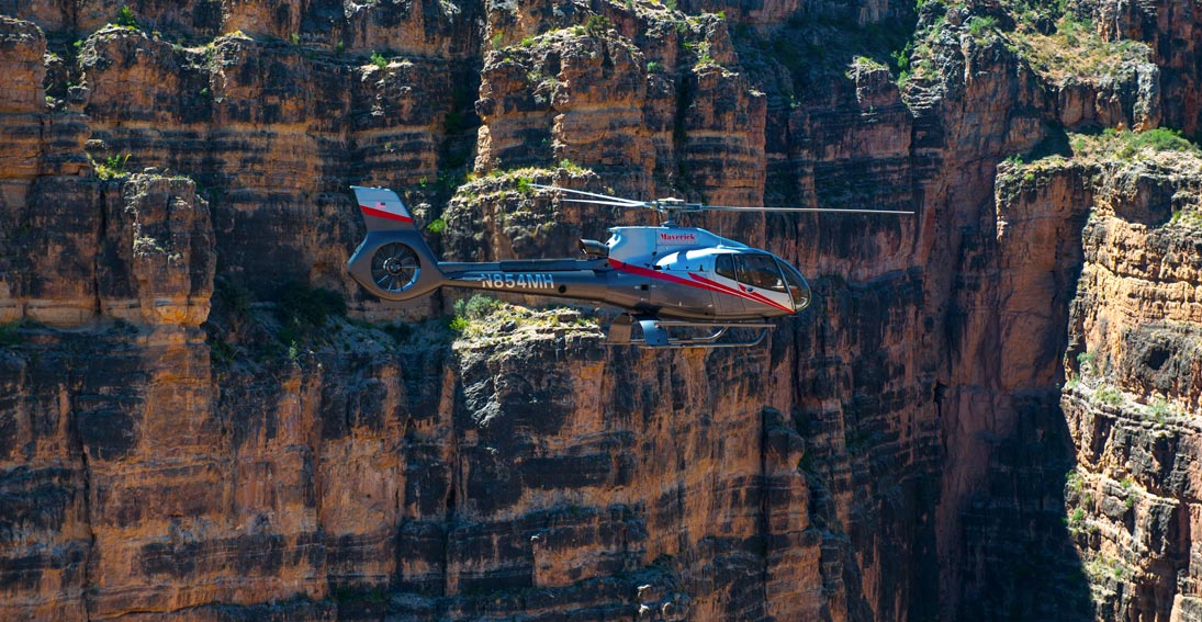 Air-only flight over the Grand Canyon and enjoy intimate views of this natural wonder