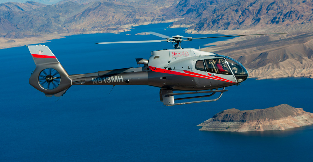 Fly over Lake Mead on your way to the Grand Canyon