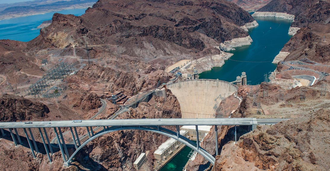 Splendid views of the engineering marvel Hoover Dam and Lake Mead