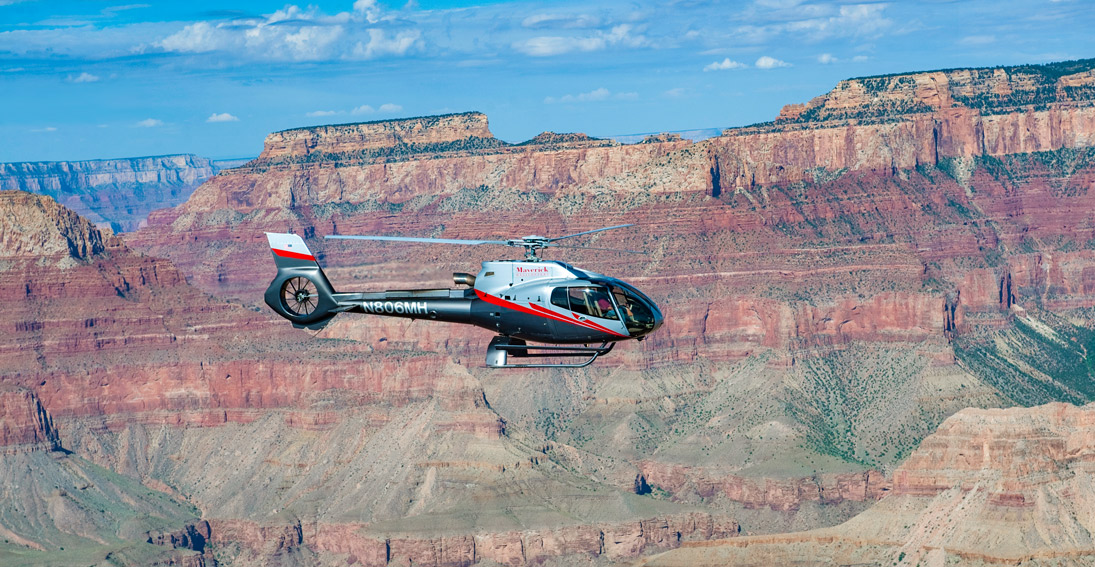 Take flight in our 45-minute air tour of the Grand Canyon