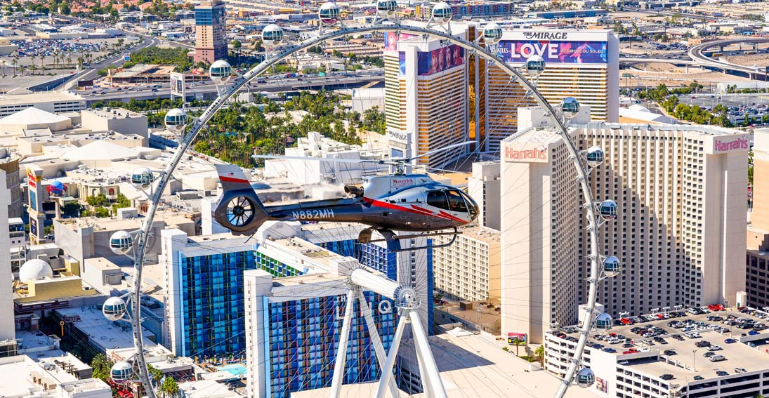 Helicopter ride over the Las Vegas Strip