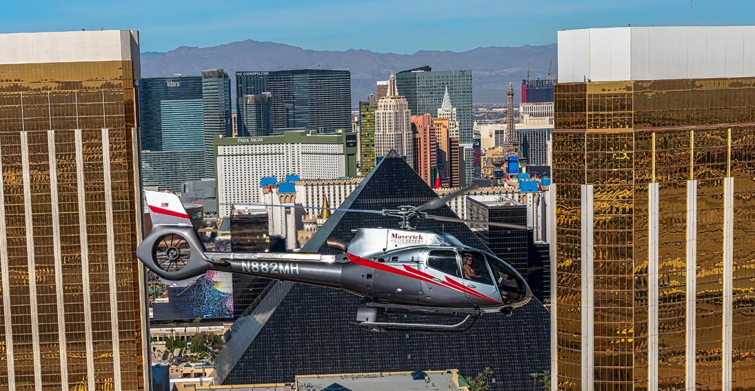 A Vegas Strip tour with Maverick Helicopters