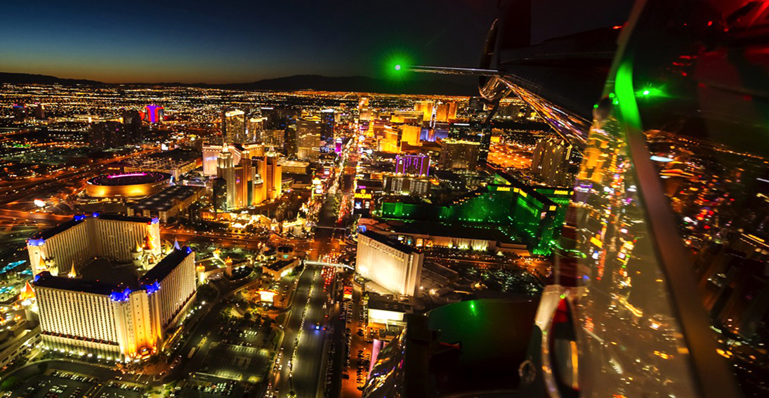 See Las Vegas from a different perspective – the sky in a Maverick helicopter