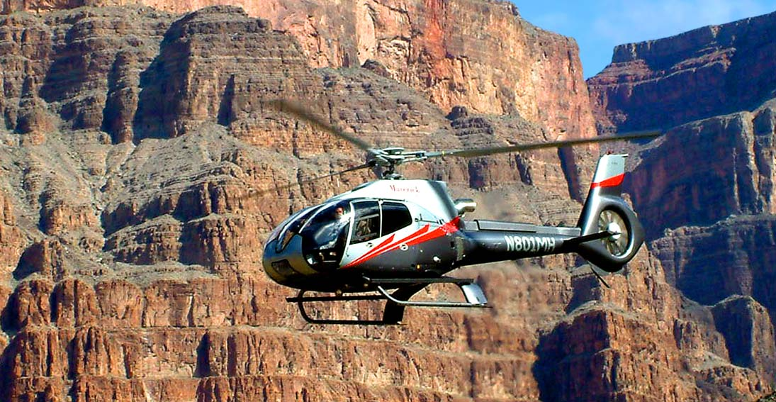 Your helicopter tour will provide amazing views of the Grand Canyon