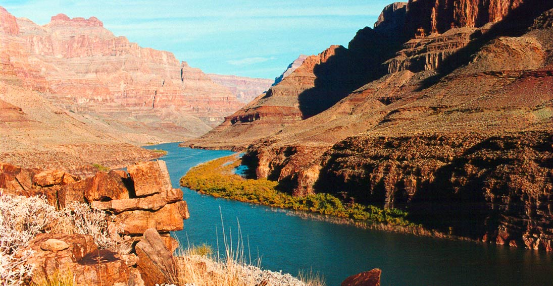 Capture amazing views of the canyon and Colorado River at a private landing spot 3500 feet below the rim