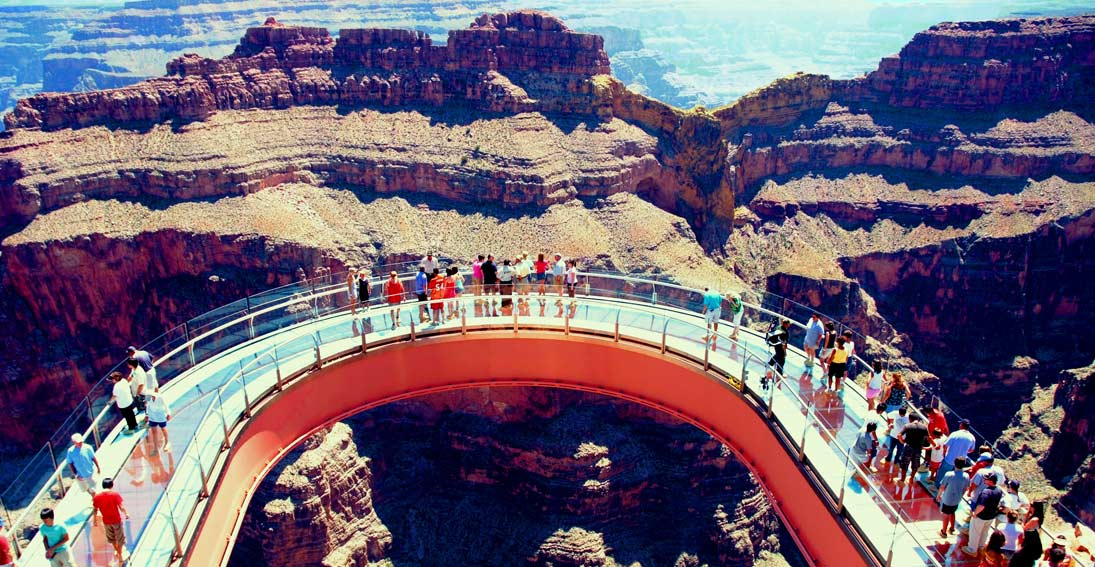 Walk over the canyon at the world famous Skywalk