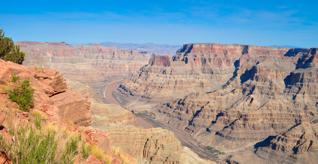Enjoy spectacular views of the Grand Canyon's West Rim